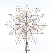 Kurt Adler 10L Capiz Star Snowflake Tree Top #UL3143