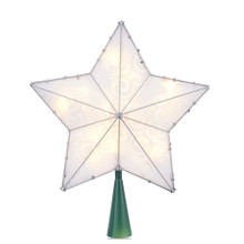 Kurt Adler 15L LED Spiral Deisgn Star Tree Top #UL4319