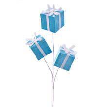Kurt Adler Blue with White Ribbon Gift Box Pic #C6967