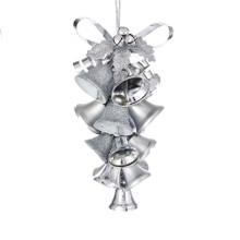 Kurt Adler Silver Metal Bell Cluster Ornament #D3304