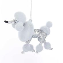 Kurt Adler Shiny Silver Poodle Ornament #H7514