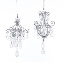 Kurt Adler Clear Gem Drop Chandelier Ornament #TD1603
