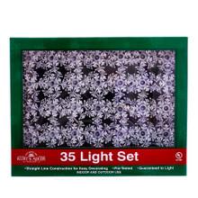 Kurt Adler 35L Double Layer Snowflake Light Set #UL1680