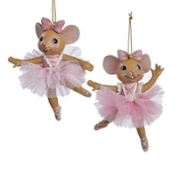 Kurt Adler Ballet Mouse Ornament #C8753
