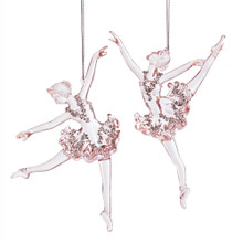Kurt Adler Pink Ballet Girl Ornament #D3528