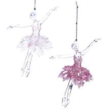 Kurt Adler Pink & White Ballet Girl Ornament #T2127