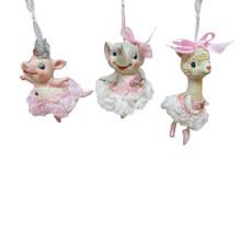 Kurt Adler Ballerina Animal Ornament #TD1644