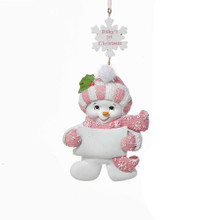 Kurt Adler Baby's 1st Christmas Snow Baby Girl Ornament #A1228G