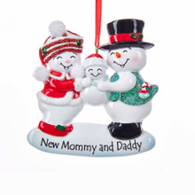 Kurt Adler Mom & Dad Snow Family Ornament #W8373