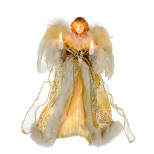 Kurt Adler 10L Gold & Ivory Angel Tree Top #UL1082