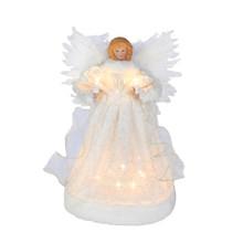 Kurt Adler 10L Angel with White Dress Tree Top #UL1098