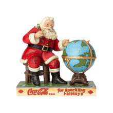 Department 56 by Jim Shore Coca Cola Santa & Globe #6000998