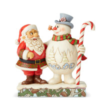 Department 56 by Jim Shore Santa & Frosty with Candy Cane #6004157
