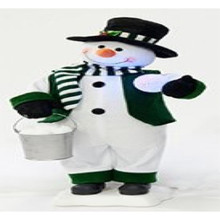 24in Animated Green Snowman