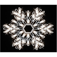 14.75in 2-Sided Lighted Snowflake