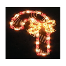 18in 2-Sided Lighted Candy Cane