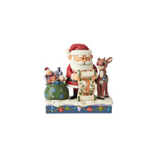 Department 56 by Jim Shore Rudolph & Santa with List #6004143