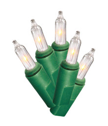 LampHome 100LT Clear Lights, Green Wire