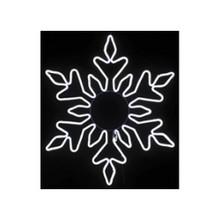 LED Neon Light Cool White Snowflake