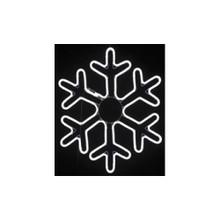 Medium LED Neon Light Cool White Snowflake