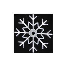 Large Twinkling LED Neon Light Cool White Snowflake