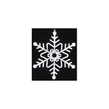 Medium Twinkling LED Neon Light Cool White Snowflake