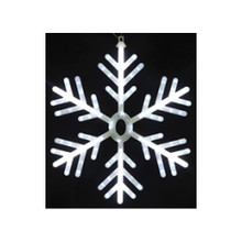 Small Twinkling LED Neon Light Cool White Snowflake