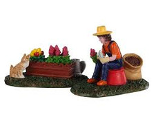 Lemax Village Collection Garden Grooming, Set of 2 #02920