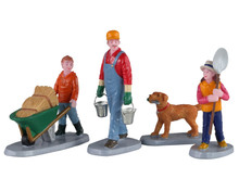 Lemax Village Collection Morning Chores, Set of 4 #02922