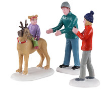 Lemax Village Collection Rover Plays Rudolph, Set of 3 #02923