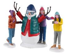 Lemax Village Collection Snowman Selfie, Set of 3 #02940