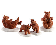 Lemax Village Collection Bear Family Snow Day, Set of 4 #02943