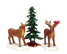 Lemax Village Collection Mr And Mrs Moose, Set of 3 #32725
