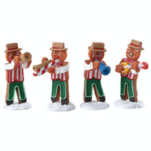 Lemax Village Collection Gingerbread Jazz, Set of 4 #72562