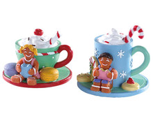 Lemax Village Collection Cocoa And Cookies, Set of 2 #83383