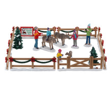 Lemax Village Collection Reindeer Petting Zoo, Set of 17 #93434