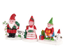 Lemax Village Collection Christmas Garden Gnomes, Set of 3 #04739