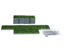Lemax Village Collection 16pc Plaza System (Grass, Square) #64107
