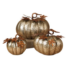 Set of 3 Nested Metal Pumpkins
