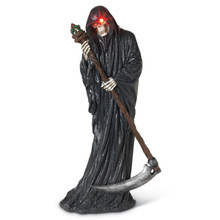 Lighted Resin Grim Reaper
