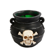 Lighted Smoking Witches Cauldron