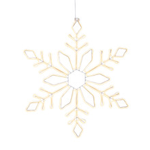 Electric Neon Snowflake with Warm White Rope Light