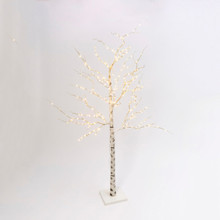 7ft Lighted Birch Tree with Warm White LED Lights