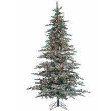 7.5ft Lightly Flocked McKinley Pine with Clear Lights