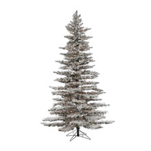 7.5ft Flocked Wyoming Snow Pine with LED Lights