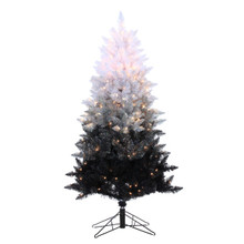 5ft Vintage Black Ombre Spruce with Clear Lights