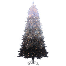 7.5ft Vintage Black Ombre Spruce with Clear Lights