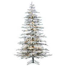6.5ft Flocked Mountain Pine with Micro LED Color Changing Lights