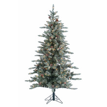 6ft Lightly Flocked McKinley Pine with Clear Lights