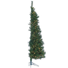 7ft Tiffany Pine Wall Tree with Clear Lights